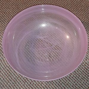 Purple glass bowl